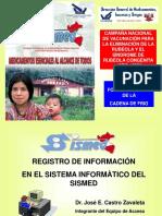 Registro de Información Sismed