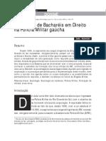 O Ingresso de Bacharéis Em Direito Na Polícia Militar Gaúcha