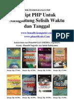 Script PHP Untuk Menghitung Selisih Waktu dan Tanggal