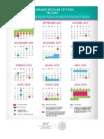 Calendario Escolar Para El Ciclo Escolar 2017 - 2018