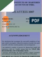 Raj Presentation on MS Access