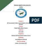 Tarea II. Historia Del Pensamiento Político y Social