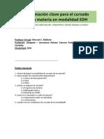 SYLLABUS EDH 1B, Derecho Procesal P-blico
