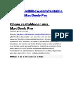 Cómo restablecer una MacBook Pro.docx
