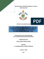 El Juego Simbólico para mejorar el nivel de Autoestima en niños y niñas de 5 años de la I.E. N° 189, barrio La Victoria - Huicungo, 2017