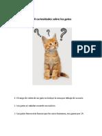 120 Curiosidades de Los Gatos