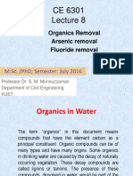 Lecture 8 Organic Arsenic Fluoride Removal