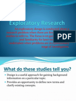 Exploratory Research