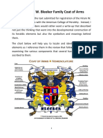 the hiram w bleeker coat of arms narrative