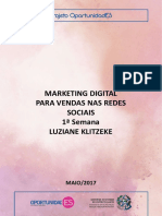 Marketing Digital Para Vendas Nas Redes Sociais 1ª Semana