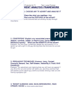 Advertisement Analysis Framework
