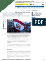 2015 Anuncian Movilización Contra Mineras Que Atentan Santuario de Qoyllurit'i