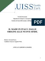 Il Made in Italy Dalle Origini Alle Nuove Sfide