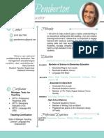 alicia pemberton resume