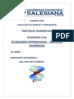 Ecuaciones Diferenciales Por Metodos Numericos