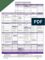 Academic Calendar for 1st Sem