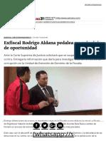 Exfiscal Rodrigo Aldana Pedalea Un Principio de Oportunidad