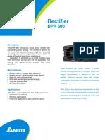 Datasheet - DeLTA Rectifier Module DPR 600B-48