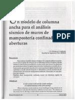 Articulo. Modelo de Columna Ancha