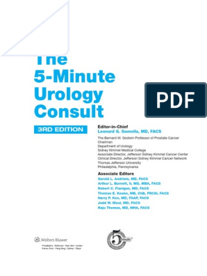 5-minute urology consult pdf | Urology | Evidence Based Medicine