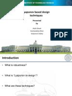 Lyapunov Based Design
