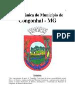 Lei Orgânica Do Município de Congonhal-MG.