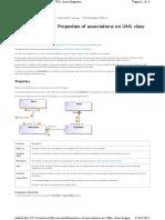 Properties of Associations on UML Class Diagrams