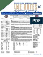7.31.17 vs. JAX Game Notes