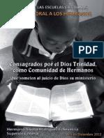 2011 - Consagrados Por El Dios Trinidad, Como Comunidad de Hermanos Que Someten Al Juicio de Dios Su Ministerio