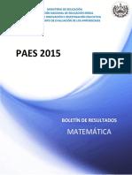 Boletín Paes 2015 Matematica