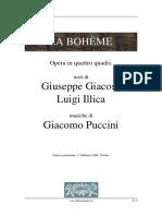 Libretto - Puccini - Boheme