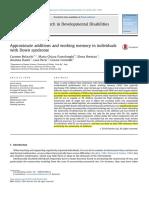 001Belacchi 2014 Research in Developmental Disabilities