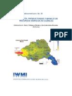 Asignación Productividad y Manejo de Recursos Hídricos en Cuencas