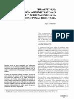 Huaypethue. Infraccion Administrativa o Delito Penal, Acercamiento a la Realidad Penal Tributaria.pdf
