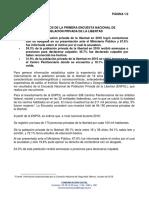 RESULTADOS DE LA PRIMERA ENCUESTA NACIONAL DE POBLACIÓN PRIVADA DE LA LIBERTAD
