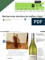 Recepty Becherovka Domaca