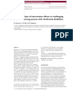 A Meta-Analysis of Interventions on Challenging Behaviour