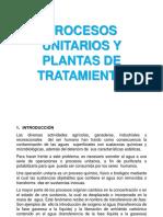 3.- Procesos Unitarios y Plantas de Tratamiento