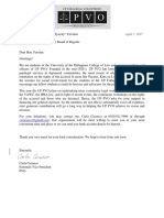 PVO Solicitation Letter