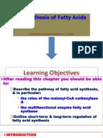 + F.R.Fatty Acid Synthesis