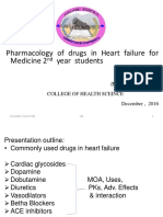 Pharmacological Management of Heart Failure for Medicine 2nd Year Students