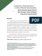 Pensamiento Pedagógico Critico Como Praxis Necesaria (Ponencia)