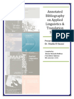 annotated bibliography on applied linguistics 2016
