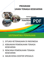 Sosialisasi Pemenuhan Tenaga Kesehatan di Indonesia