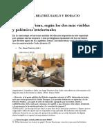 +Gonzalez, Sarlo - Entrevista a Beatriz Sarlo y Horacio Gonzalez --Perfil, 23-02-14