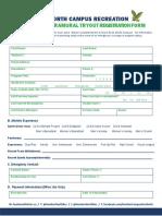 2016-2017 Extramural Tryout Registration - Medical Form