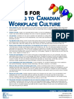 10 Tips for Adapting to Canadian Workplace Culture