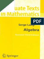 (Graduate Texts in Mathematics 73) Thomas W. Hungerford-Algebra-Springer (2003)