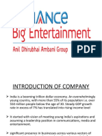 Presentation on Reliance Big Entertainment