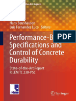 Preview of Performance Based Specifications and Control of Concrete Durability State of the Art Report RILEM TC 230 PSC